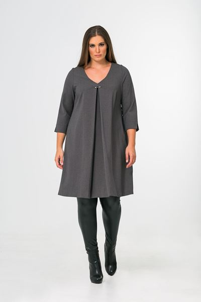 Picture of A-line jersey-dress