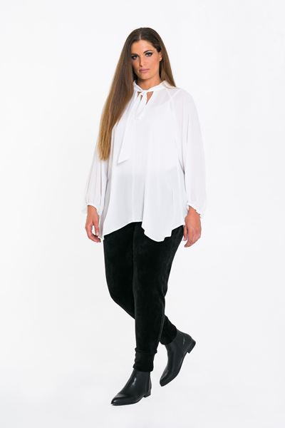 Picture of White pussy bow blouse