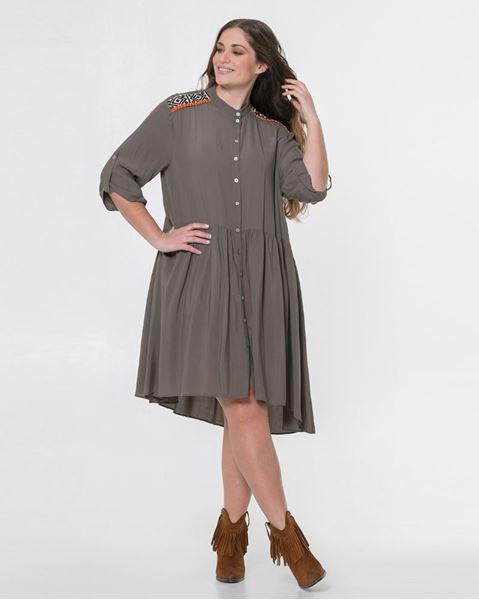 Picture of Gathered shirt dress
