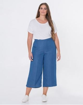 Picture of Cropped wide leg trousers 7/8