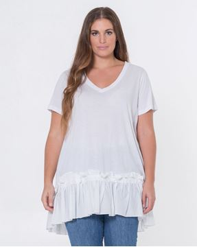 Bild von Longshirt/ Dress black & white