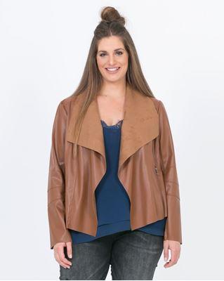 Image de veste en simili cuir