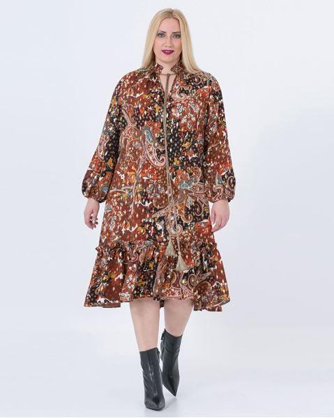 Picture of tassel tie print dress