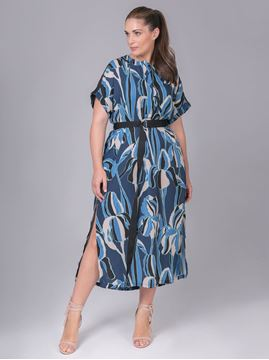 Picture of Printed blue dress