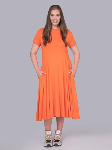 Bild von A-Linien-Kleid dunkelgrün