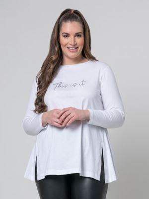 Bild von Shirt in weiss, grau, schwarz