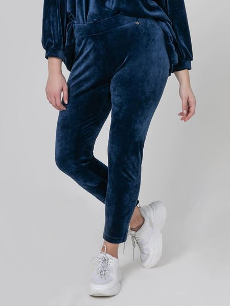 Picture of Velour leggings dark blue & black